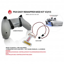 Easy Remapper V2 V3 | Pro | Slim | CARBON | JDM 040 - 055 | for PS4 Controller