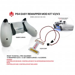 Easy Remapper V2 V3 | Pro | Slim | Saber Curved | JDM 040 - 055 | for PS4 Controller