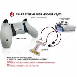 Easy Remapper V2 V3 | Pro | Slim | SABER CURVED | JDM 040 - 055 | für PS4 Controller
