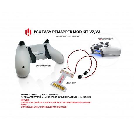 Easy Remapper V2 V3   Pro   Slim   Saber Curved II   JDM 040 - 055   for PS4 Controller