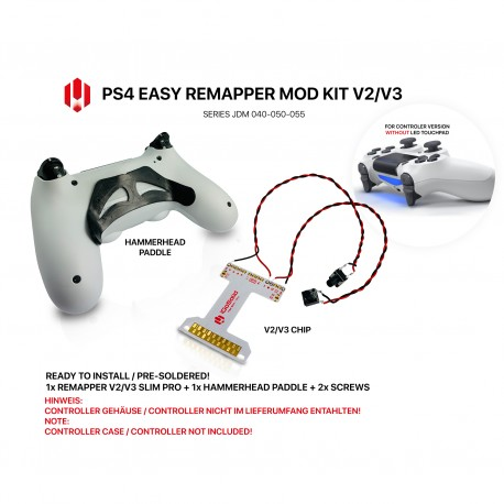 Easy Remapper V2 V3 | Pro | Slim | HAMMERHEAD | JDM 040 - 055 | for PS4 Controller
